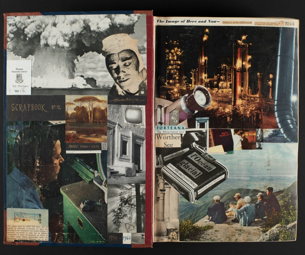 Figure 1 Extract from Edwin Morgan's Scrapbook 12, pp2239c-2240, MS Morgan 917/12. Images of Scrapbook 12 are © The Estate of Edwin Morgan and appear courtesy of The Edwin Morgan Trust and the University of Glasgow Library.