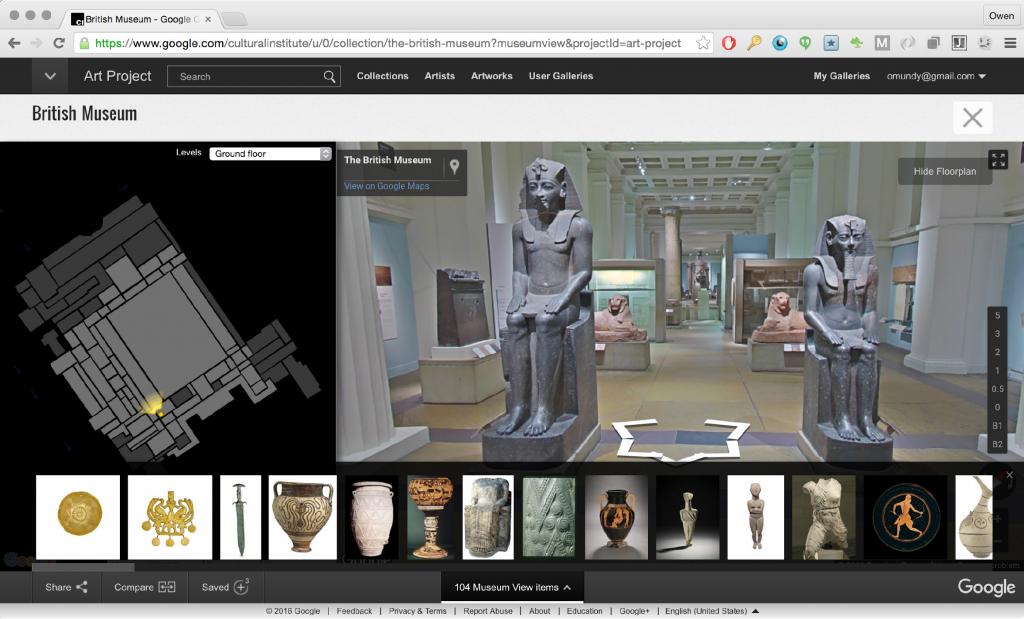 Figure 2 The British Museum, Google Cultural Institute, accessed: 23 April 2016.
