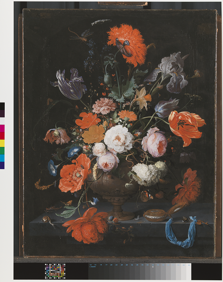 Figure 10 SK-A-268-01, Rijksmuseum, 216.543 px/in, 2016. Abraham Mignon (German, 1640-1679), Still Life with Flowers and a Watch, c. 1660 - c. 1679, Oil on canvas, 75 x 60 cm, Rijksmuseum, Amsterdam. Rijksmuseum, Amsterdam. This digital surrogate is © Rijksmuseum, Amsterdam.