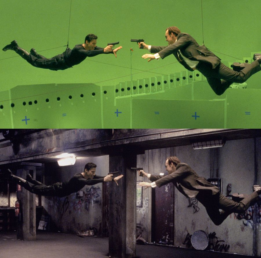 Figure 1: Stereophotogrammetry and special effects in The Matrix (1999), footnote 3.